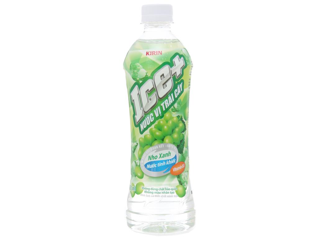 Thùng 24 chai nước trái cây Ice+ vị nho 490ml 2