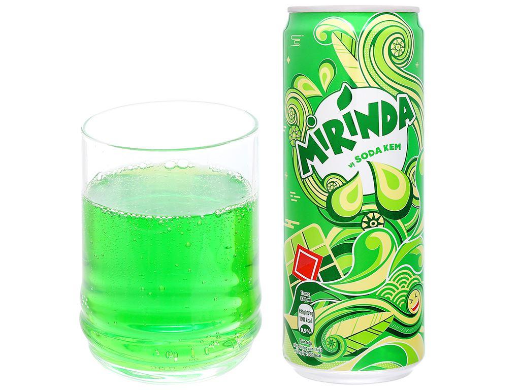 6 lon nước ngọt Mirinda vị soda kem 330ml 14