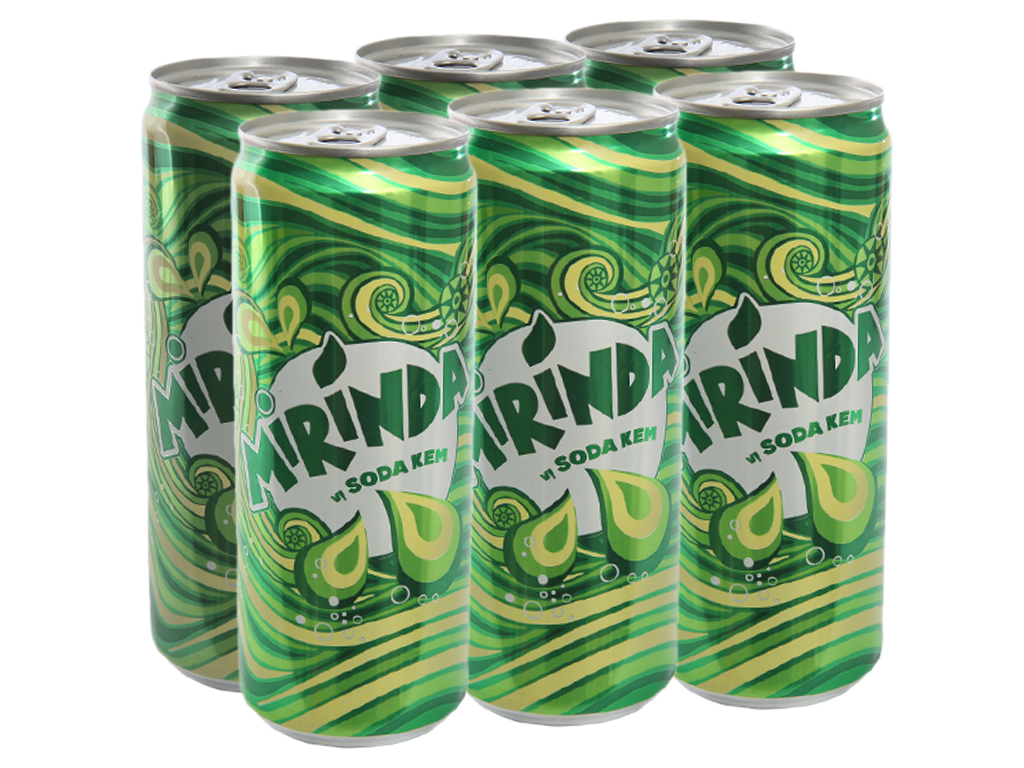 6 lon nước ngọt Mirinda vị soda kem 330ml 1