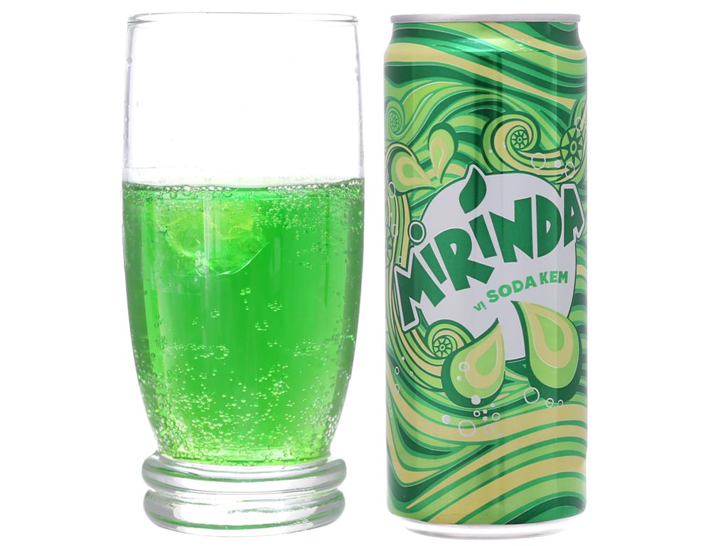 6 lon nước ngọt Mirinda vị soda kem 330ml 5