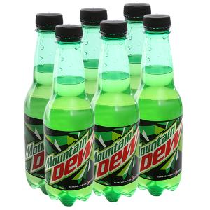 6 chai nước ngọt Mountain Dew 390ml
