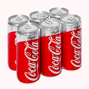 6 lon nước ngọt Coca Cola Light 330ml