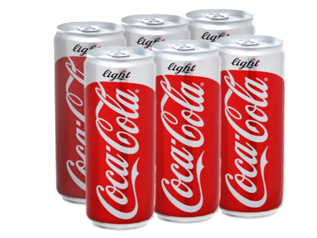 6 lon nước ngọt Coca Cola Light 330ml 1