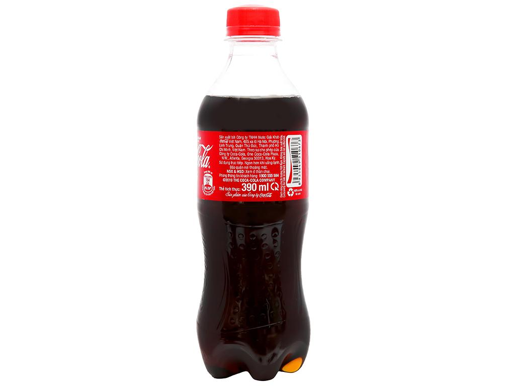 Thùng 24 chai nước ngọt Coca Cola 390ml 8