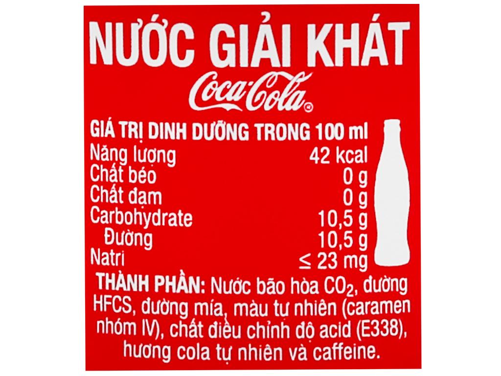 Thùng 24 chai nước ngọt Coca Cola 390ml 10