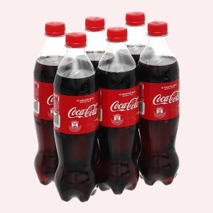 6 chai nước ngọt Coca Cola 600ml