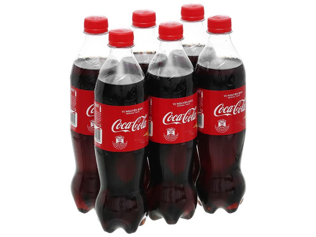 6 chai nước ngọt Coca Cola 600ml 6