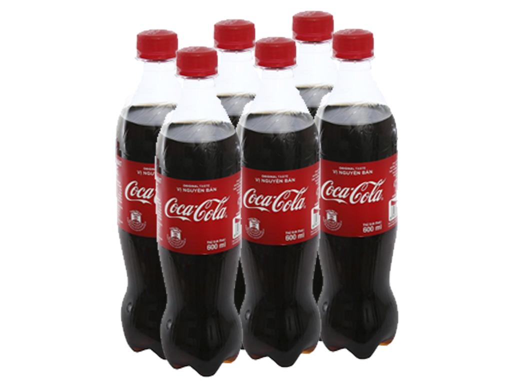 6 chai nước ngọt Coca Cola 600ml 1