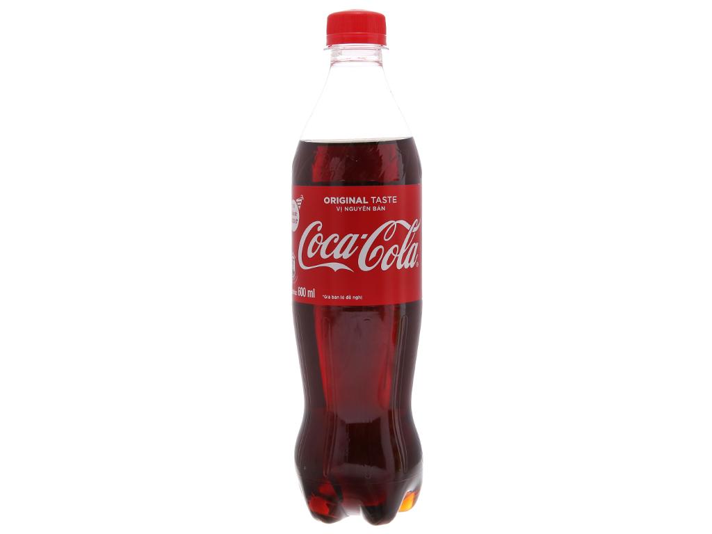 6 chai nước ngọt Coca Cola 600ml 2