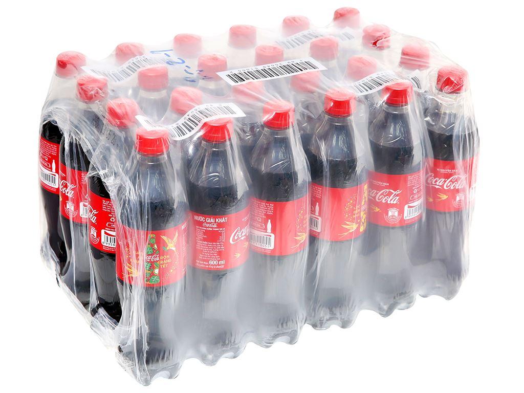 24 chai nước ngọt Coca Cola 600ml 6