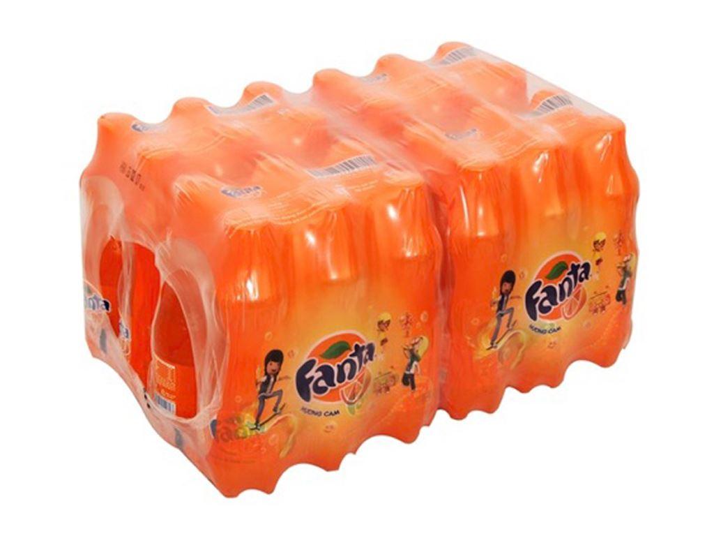 [Siêu thị VinMart] - Thùng 24 chai nước ngọt hương Cam Fanta 390ml