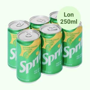 6 lon nước ngọt Sprite hương chanh 250ml