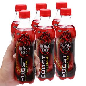 6 chai nước tăng lực Rồng Đỏ hương dâu 330ml
