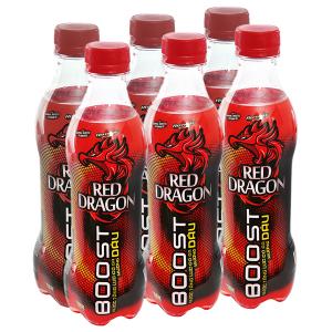 6 chai nước tăng lực Rồng Đỏ 330ml