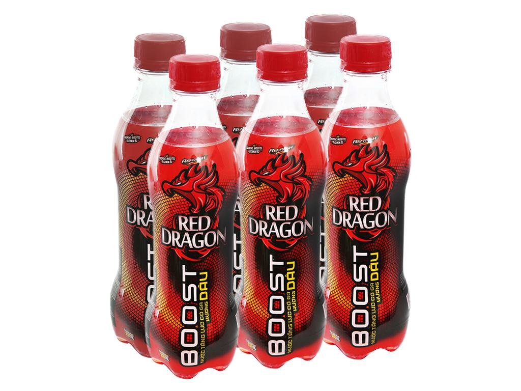 6 chai nước tăng lực Rồng Đỏ hương dâu 330ml 1