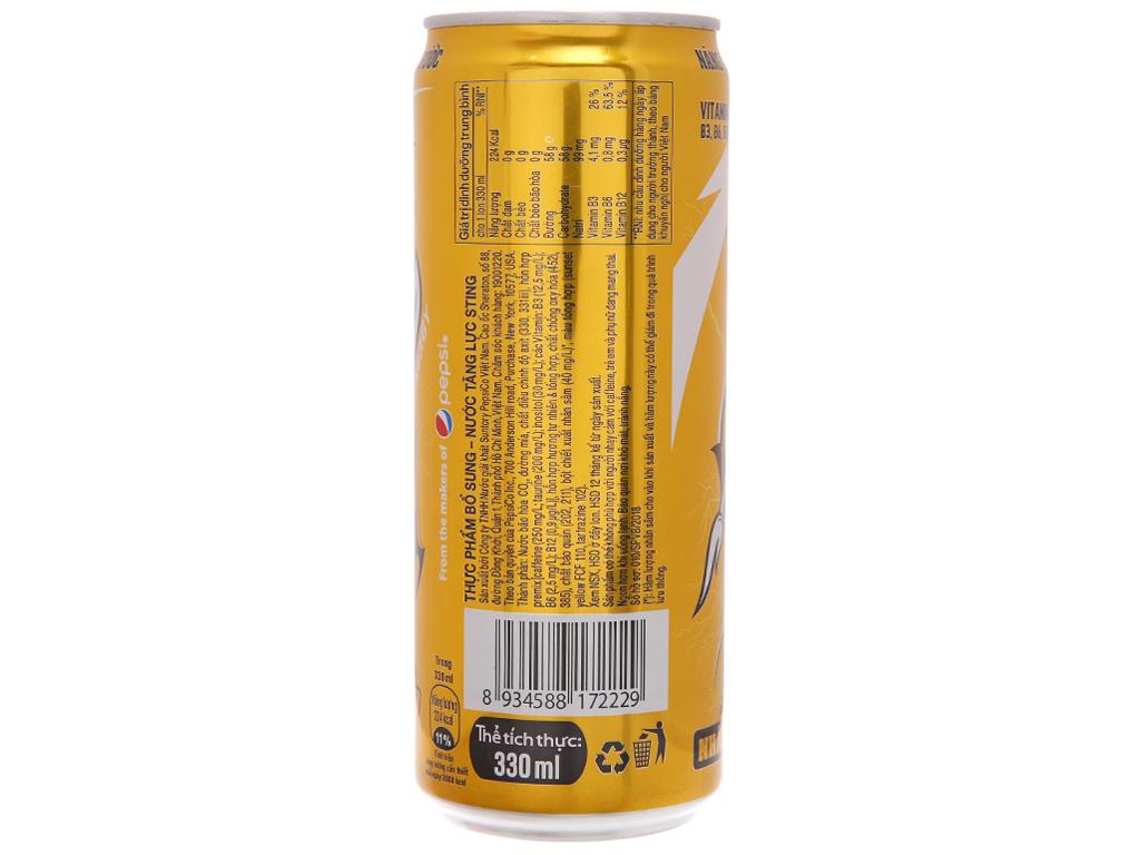 6 lon nước ngọt Sting Gold 330ml 4