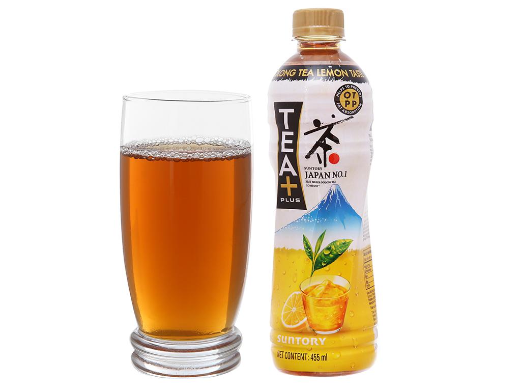6 chai trà ô long Tea Plus vị chanh 455ml 5