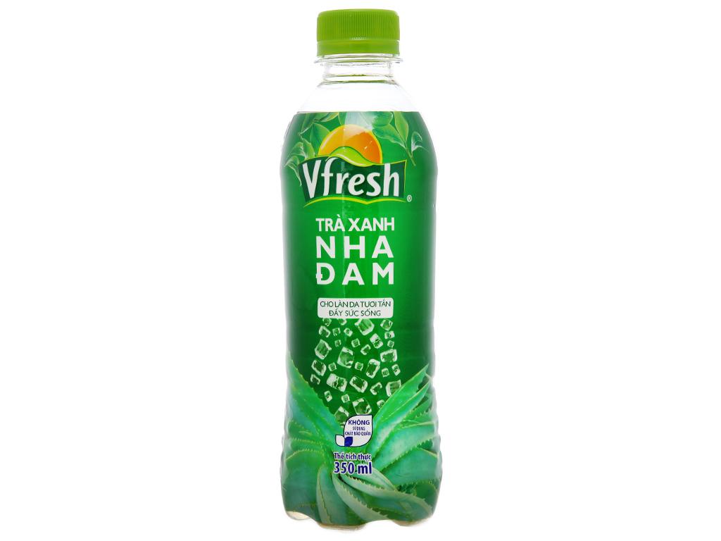 Thùng 24 chai trà xanh & nha đam Vfresh 350ml 2