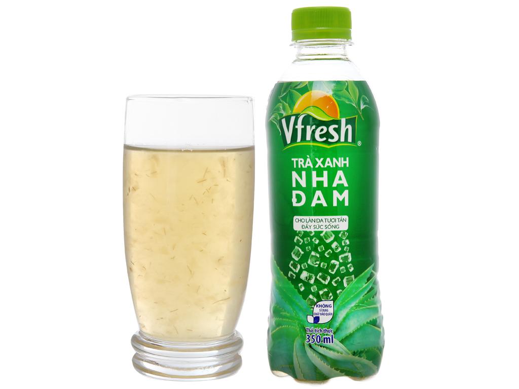 Thùng 24 chai trà xanh & nha đam Vfresh 350ml 5