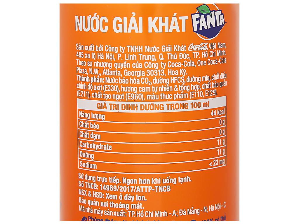 Nước ngọt Fanta hương cam 250ml 3
