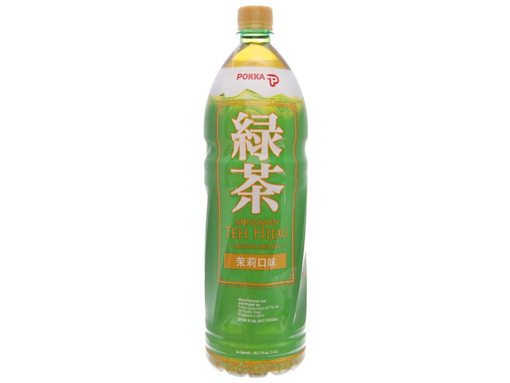 Trà xanh Pokka hương lài 1.5 lít 2