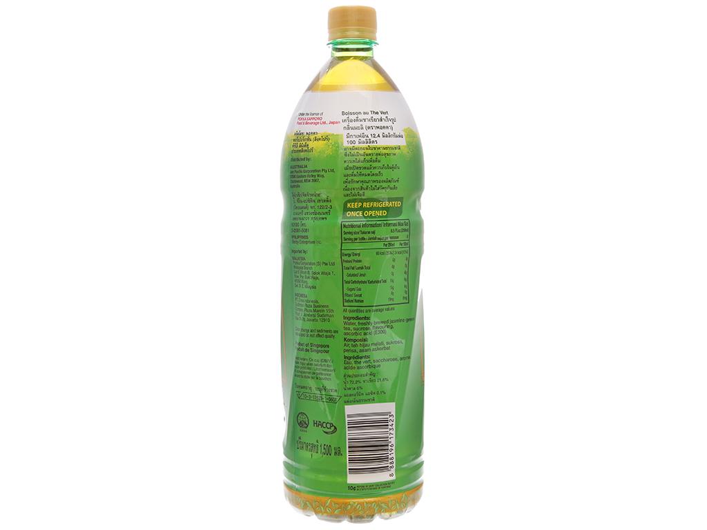 Trà xanh Pokka hương lài 1.5 lít 3