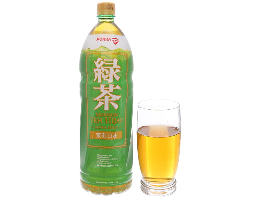 Trà xanh Pokka hương lài 1.5 lít 4