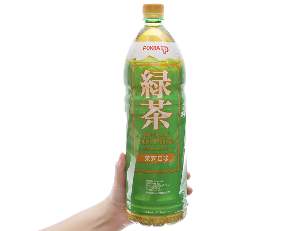 Trà xanh Pokka hương lài 1.5 lít 5