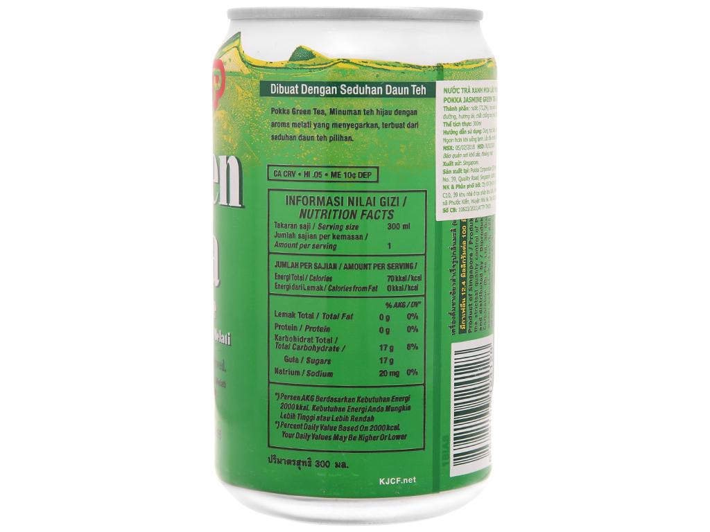 Trà xanh Pokka hương lài 300ml 2