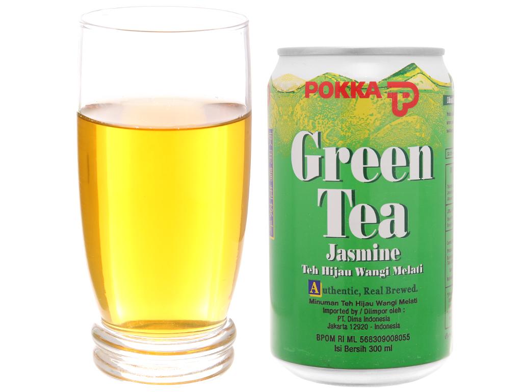 Trà xanh Pokka hương lài 300ml 4