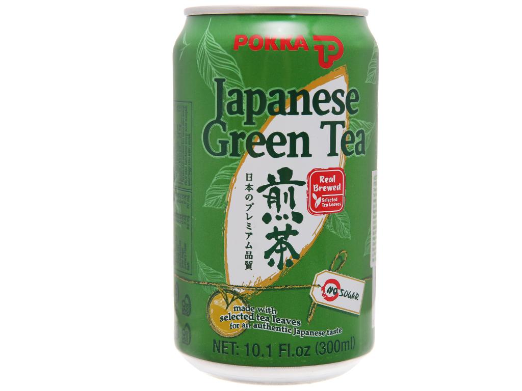 Trà xanh Nhật Pokka 300ml 1