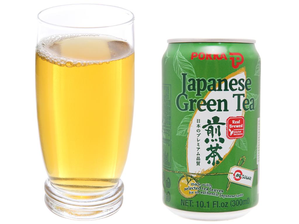 Trà xanh Nhật Pokka 300ml 4