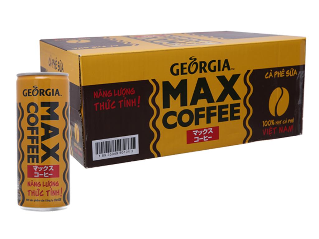 Thùng 24 lon cà phê sữa Georgia Max Coffee 235ml 1