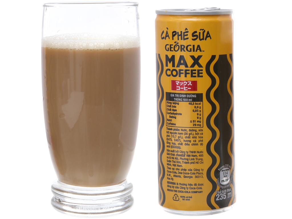 Thùng 24 lon cà phê sữa Georgia Max Coffee 235ml 4
