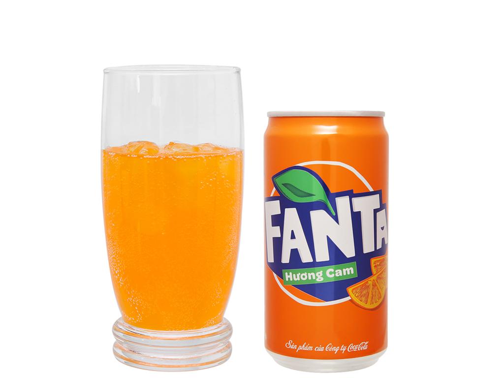 6 lon nước ngọt Fanta vị cam 250ml 6