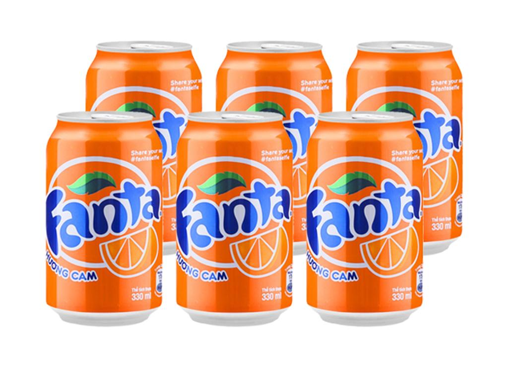 6 lon nước ngọt Fanta vị cam 250ml 1