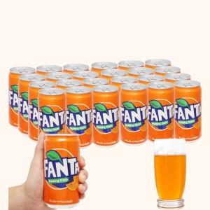 Thùng 24 lon nước ngọt Fanta hương cam 250ml