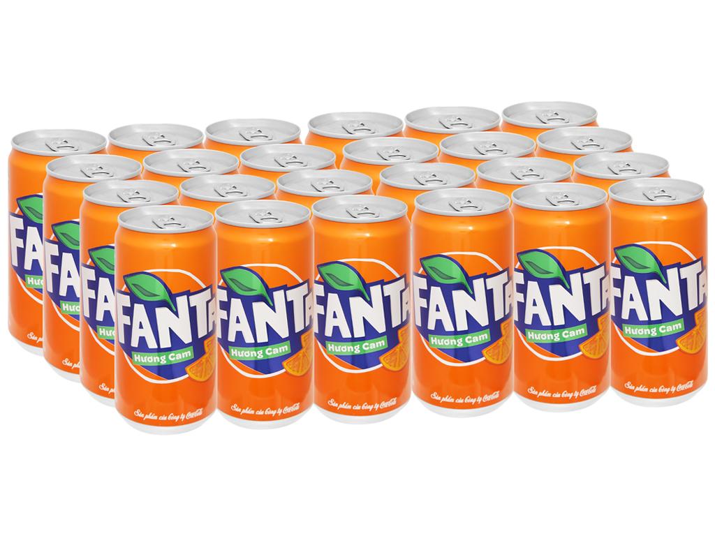 Thùng 24 lon nước ngọt Fanta hương cam 250ml 1