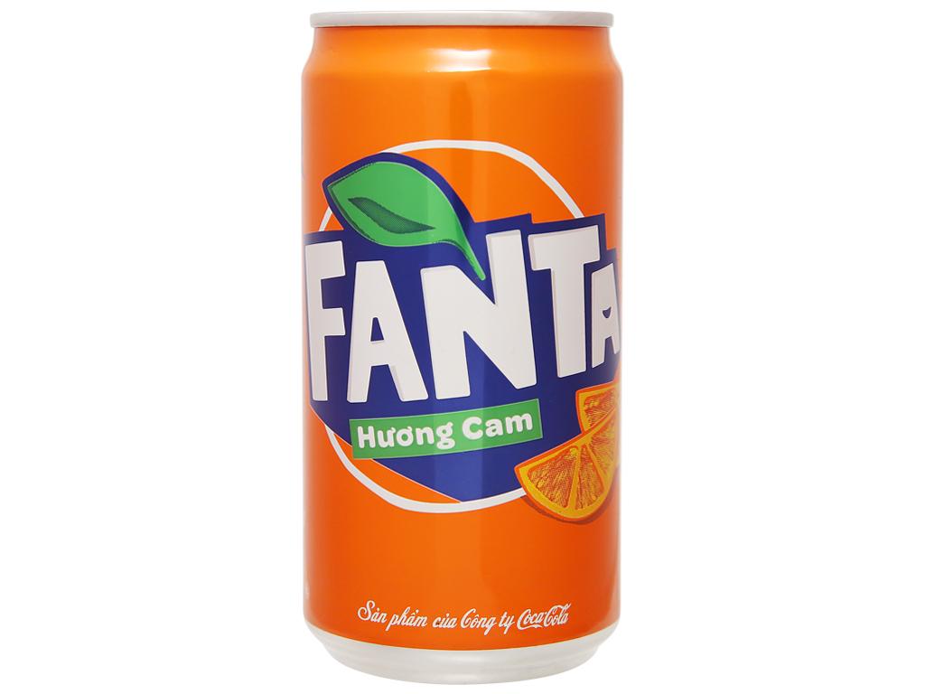 Thùng 24 lon nước ngọt Fanta hương cam 250ml 2