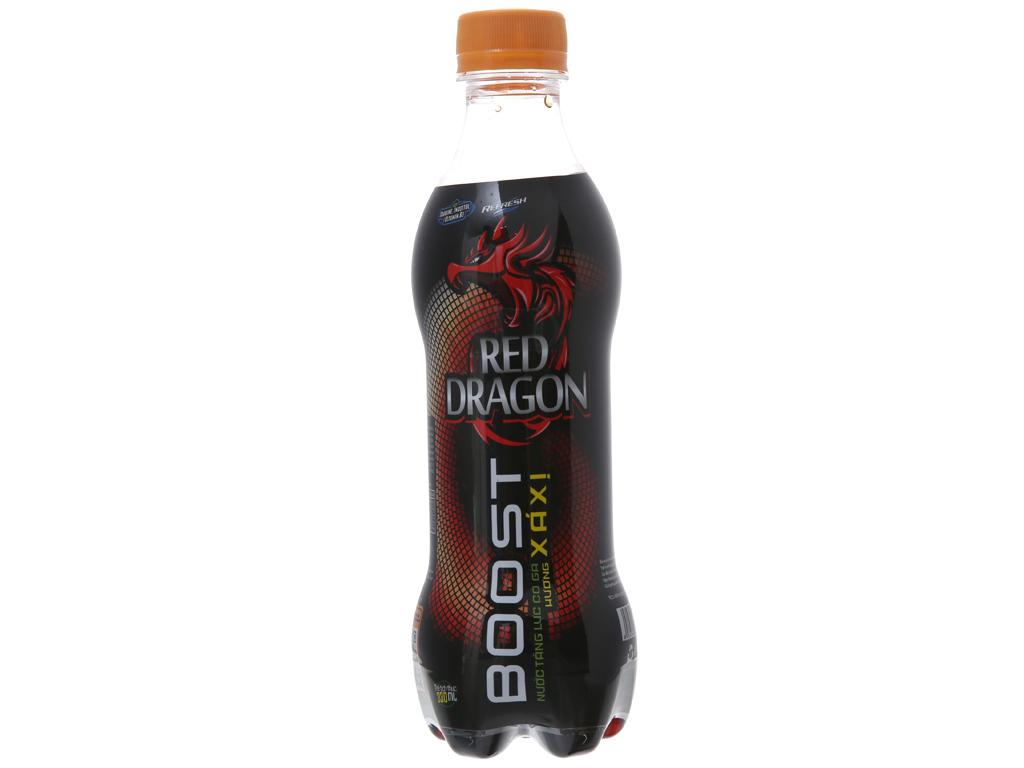 Thùng 24 chai nước tăng lực Rồng Đỏ hương xá xị 330ml 2