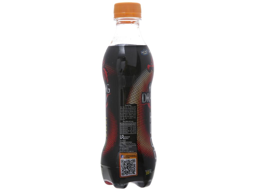 Thùng 24 chai nước tăng lực Rồng Đỏ hương xá xị 330ml 3