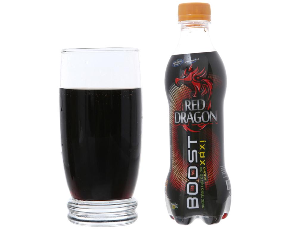 Thùng 24 chai nước tăng lực Rồng Đỏ hương xá xị 330ml 4