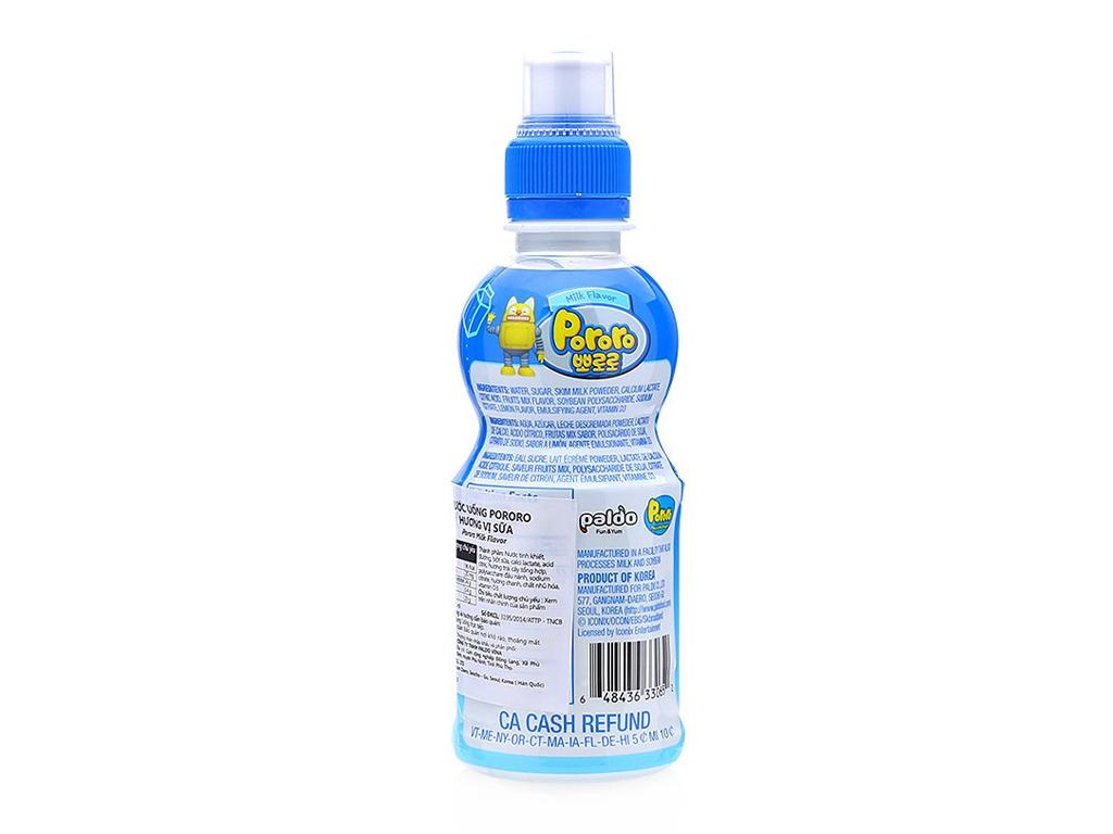 Nước trái cây Pororo vị sữa 235ml 2