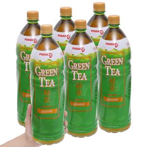 6 chai trà xanh hoa lài Pokka 1.5 lít