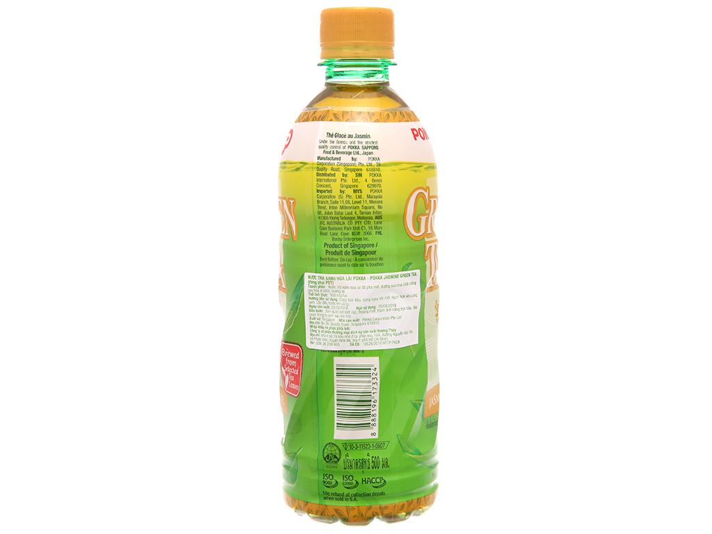 6 chai trà xanh hoa lài Pokka 500ml 2