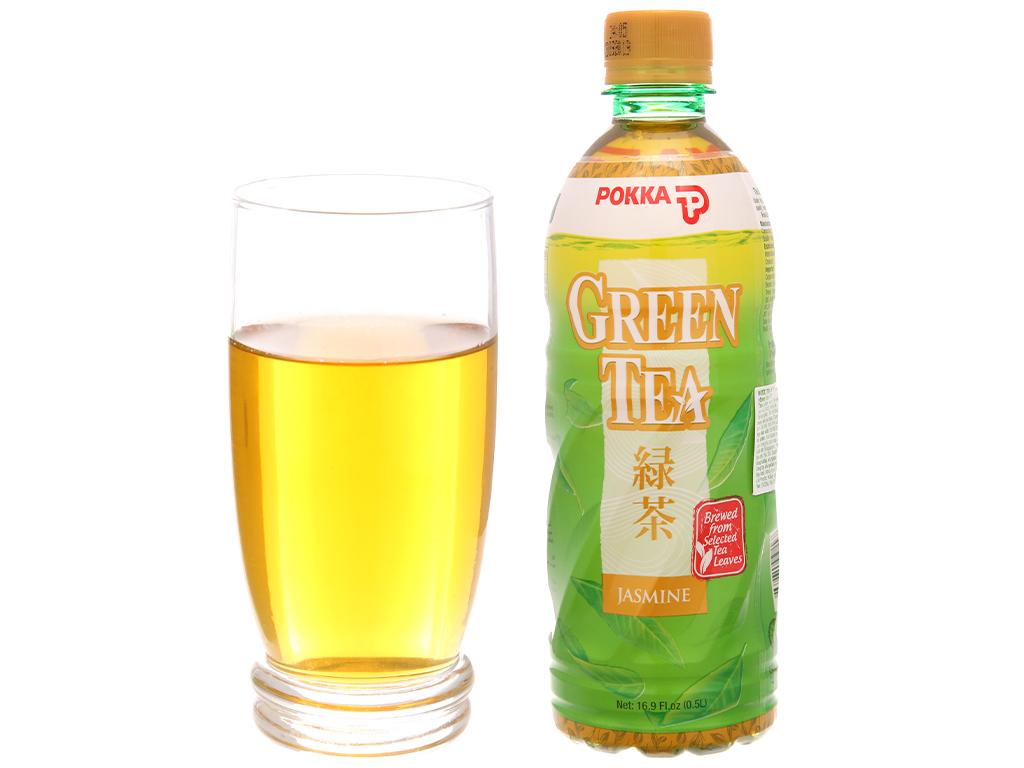 6 chai trà xanh hoa lài Pokka 500ml 4