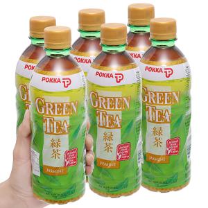 6 chai trà xanh hoa lài Pokka 500ml