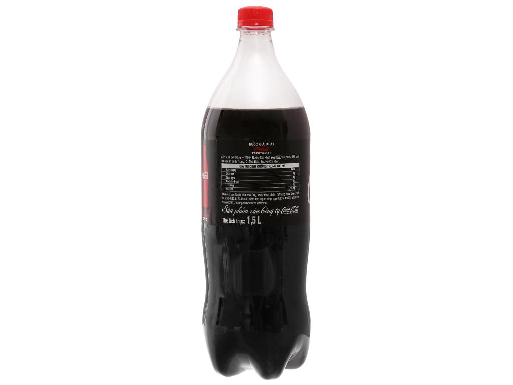Nước ngọt Coca Cola Zero 1.5 lít 2