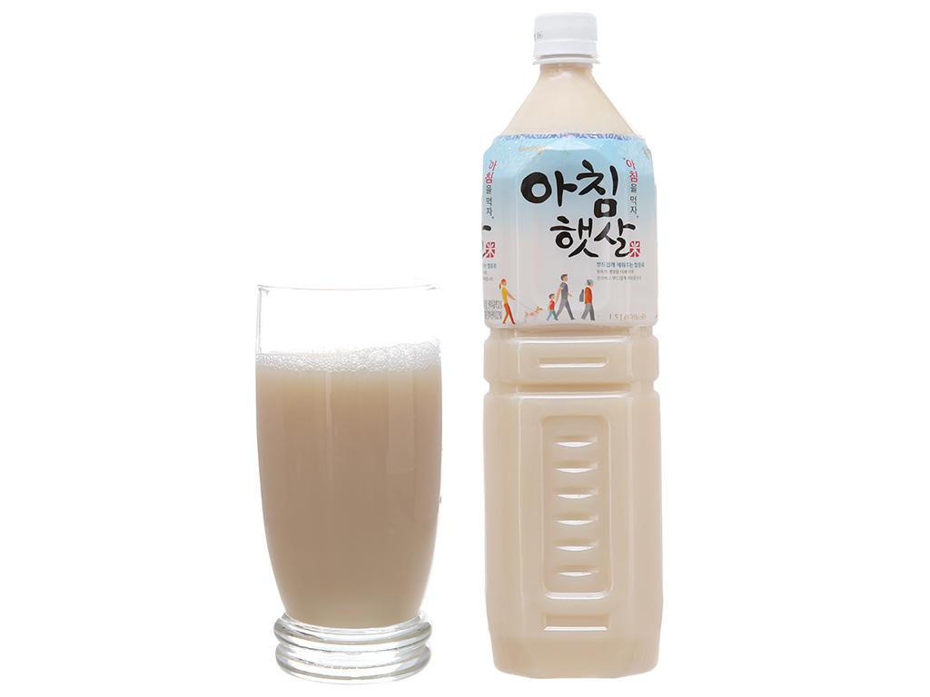 Combo 2 chai nước gạo Hàn Quốc Woongjin 1.5 lít 4