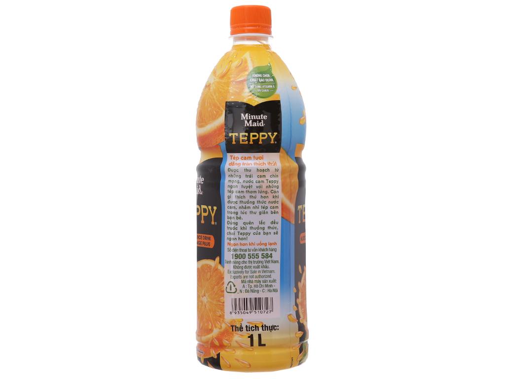 Combo 2 chai nước cam có tép Teppy 1 lít 3